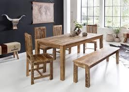 Esszimmertisch Rustica 120 X 70 X 76 Cm Mango Massiv Holz Design Landhaus Esstisch Massiv Tisch Für Esszimmer Rechteckig Küchentisch 4 6
