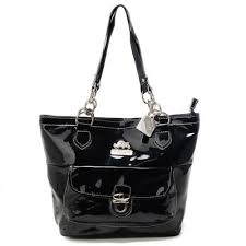 Coach Willis Colorblock Medium Black Totes AFC