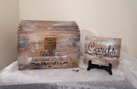 aged white wedding card chest with card slot, personalized wedding Wedding Card Holder Chest aged white wedding card chest with card slot, personalized wedding card box, wedding gift, large keepsake chest, rustic card chest treasure chest wedding card holder