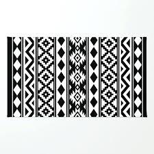essence white black rug and aztec ikea