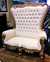 gold king queen throne chair loveseat