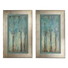 uttermost x27 whispering wind x27 framed art set of 2 on 2 piece framed wall art with shop uttermost whispering wind framed art set of 2 free