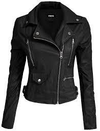 black las pu leather jacket women npl 01