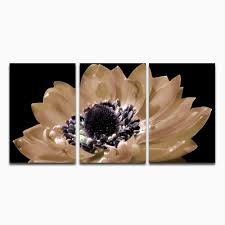 giclee wall art canvas large black and white gorgeous flower modern home decorations