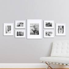 picture frames on wall. Gallery Perfect 7 Piece Frame Set Brown Galleries Photo Wall White Frames Picture On
