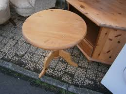 pine side table coffee table small round pine table in yeovil