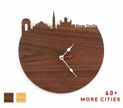 new delhi skyline clock india time zone