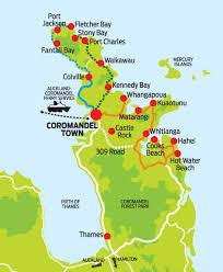 kennedy bay located on east coast of coromandel peninsula Whitianga Map New Zealand nz holiday rental whitianga new zealand map