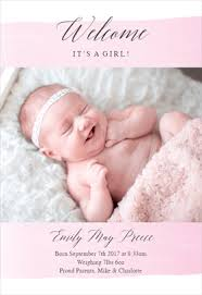 Free Printable Birth Announcement Templates Greetings