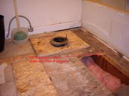 floor joists under bath tub are rotten