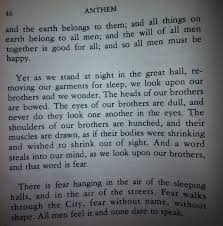 Anthem Quotes Enchanting Quotes About Book Anthem 48 Quotes