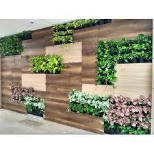 vertical decorative green outdoor wall