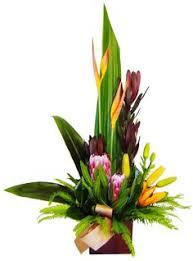 tropical artificial flower arrangement