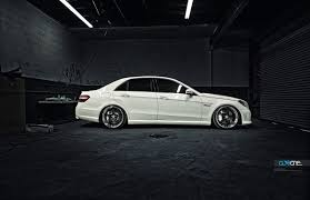 My new W212 E63 AMG with C97 20' HRE's and a drop ...