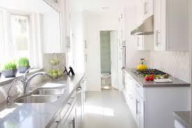 White Kitchens With White Floors Modern White Kitchen With Herringbone Wooden Floor In Design Ideas