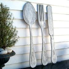 large knife fork and spoon wall decor