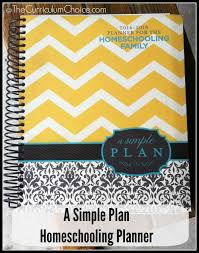 A Simple Plan Homeschooling Planner The Curriculum Choice