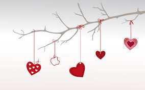Love Power Point Background Heart Branch For Valentine Day Backgrounds For Powerpoint