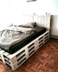 pallet bed frame instructions diy queen with lights