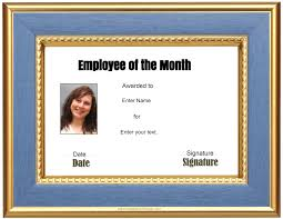 Employee Of The Month Certificate Templates New Employee Of The Month Certificate Template Best Sample
