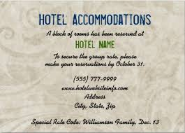 Hotel Accommodations Cards Hotel Block Wording For Enclosure Card Wedding Invitations Hotel