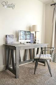 home office plans. Rustic Truss Desk Free Plans Farmhouse Style Computer Home Office F