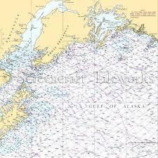 Alaska Nautical Charts Alaska Homer Seward Valdez Gulf Of Alaska Nautical Chart Decor
