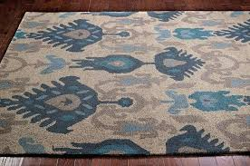 ikat wool rug architecture endearing area rug with new transitional blue beige grey intended for inspirations ikat wool rug