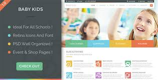 Kids School Website Template Kids Html Website Templates From Themeforest