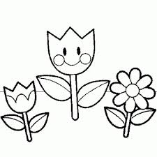 A cute smiling sun with butterflies. Spring Flowers Coloring Pages Bestappsforkids Com