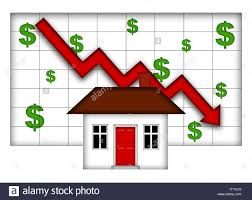 Real Estate Home Values Chart Real Estate Home Values Going Down Chart Stock Photo