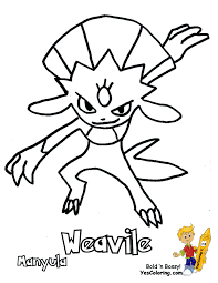 461_Pokemon_Weavile_at_coloring pages book for kids boys smooth pokemon coloring sheets numel milotic free kids on flygon coloring pages