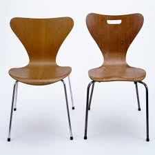 iconic furniture designers. Chairs:(left) Model Designed By Arne Jacobsen, Museum No. (right) Copy Unknown Designer, Possibly Heal\u0027s London, Iconic Furniture Designers C