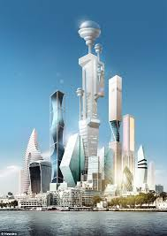 back to the future what will the world look like in  futurologist dr pearson believes that by 2045 supertall buildings illustrated will have artificial