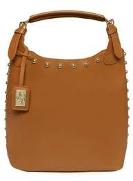 Tan dome stud tote bag