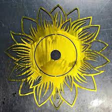 12 18 sunflower metal art wall hanger