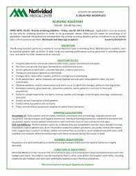 Cna Job Description Resume Free Download Assistant Trainer Sample