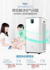 máy khử mùi ô tô loại nào tốt Máy lọc không khí Haier trong phòng ngủ