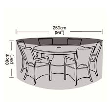 cover up 6 8 seater circular patio set cover 250cm ref w1400