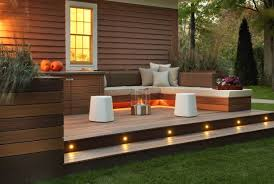 Small Picture awesome off white and dark brown back patio ideas deck design