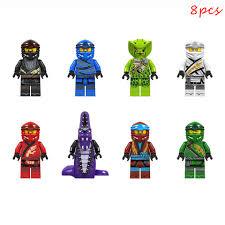 8 stücke Set Montieren Modell Kompatibel LEGO Ninjago Kai Jay Cole Zane  Chokun Fakten Bausteine Ziegel Weihnachten Geschenk Kinder spielzeug|