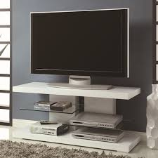Glass Stands For Display White Glass TV Stand StealASofa Furniture Outlet Los Angeles CA 64