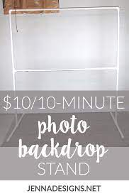 diy photo backdrop stand 10 and 10