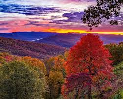Arkansas Artist Point Sunrise In Autumn Photograph by Gregory Ballos