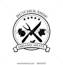 stock vector butcher shop logo design elements labels and badges in vintage style butcher shop logo meat 380433784 meat label stock images, royalty free images & vectors shutterstock on vertical labels template