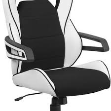 white vinyl office chair. high back white vinyl executive swivel office chair with black fabric inserts