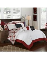 hotel collection comforter set. Chic Home Lalita Hotel Collection Reversible Bed In A Bag Comforter Set Red - CS2178- T