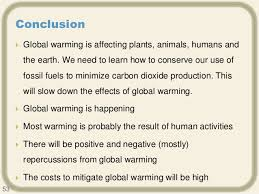 jagan global warming conclusion  global warming