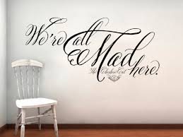 Alice in Wonderland Cheshire Cat We\u0027re All Mad Here Wall Decal ...