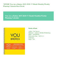 At A Glance Academic Planner 2020 17 Epub You Are A Badass 2019 2020 17 Month Monthlyweekly